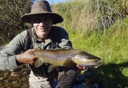 Alex Payne AUS with New Zealand Fly Fishing Guide, Tony Entwistle.