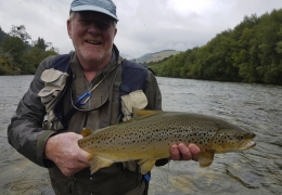 Dennis Butcher USA with New Zealand Fly Fishing Guide, Tony Entwistle.