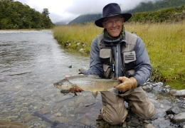 Don Cornelius USA with New Zealand Fly Fishing Guide, Tony Entwistle.