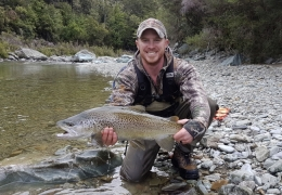 Eric Huleatt USA with New Zealand Fly Fishing Guide, Tony Entwistle.