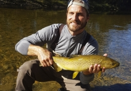 Matthew Carlson USA with New Zealand Fly Fishing Guide, Tony Entwistle.