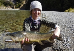 Megan Faye USA with New Zealand Fly Fishing Guide, Tony Entwistle.