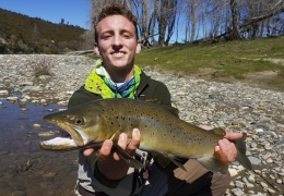 Riley Dow USA with New Zealand Fly Fishing Guide, Tony Entwistle.