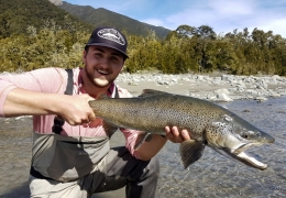 Riley Kack USA with New Zealand Fly Fishing Guide, Tony Entwistle.