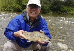 Terry Feng USA with New Zealand Fly Fishing Guide, Tony Entwistle.