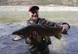 Woody Bailey USA with New Zealand Fly Fishing Guide, Tony Entwistle.