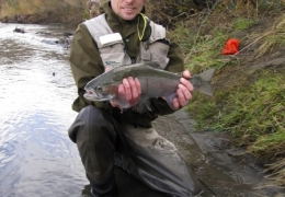 Nicks first Tongariro rainbow